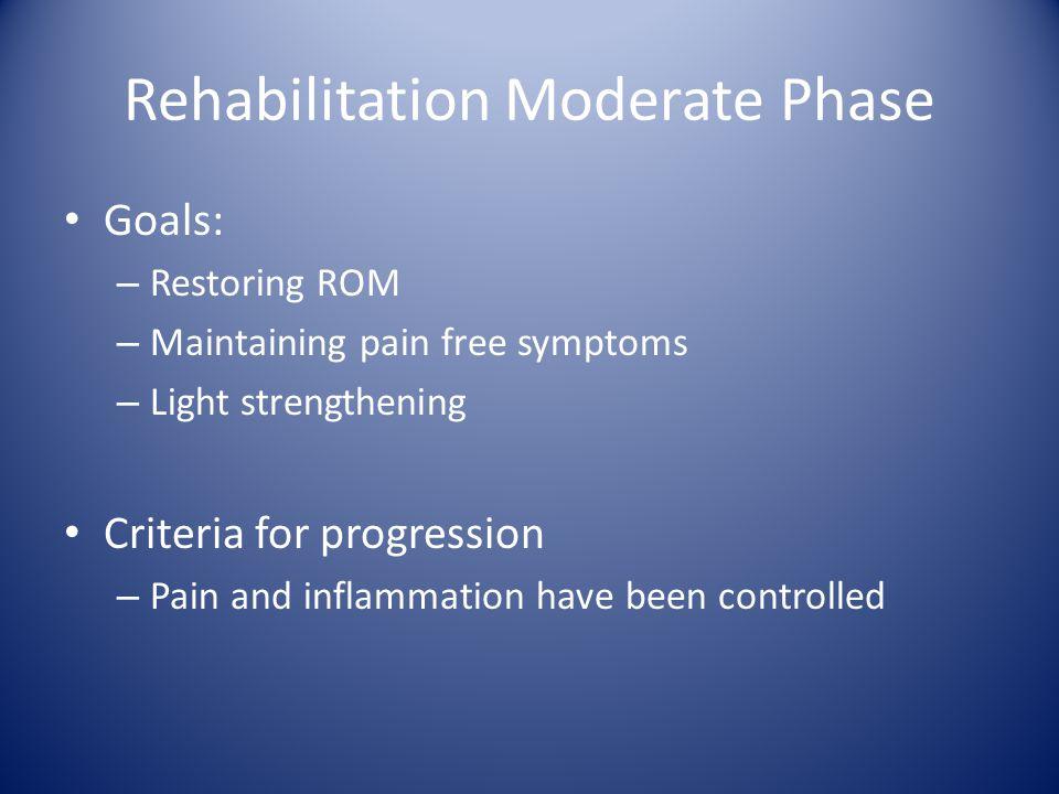 Rehabilitation Moderate Phase