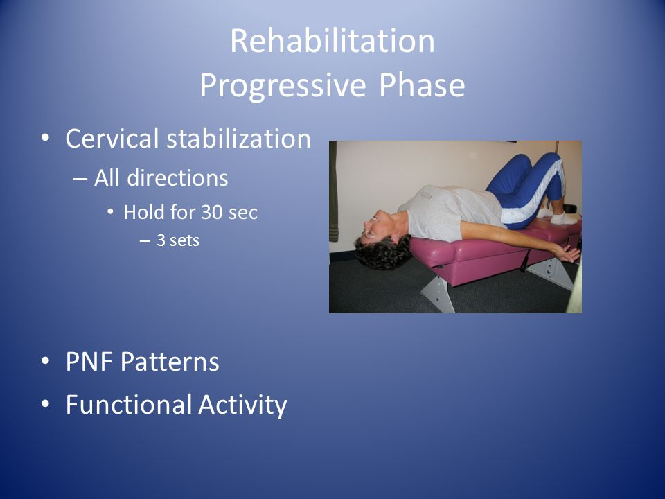 Rehabilitation Progressive Phase