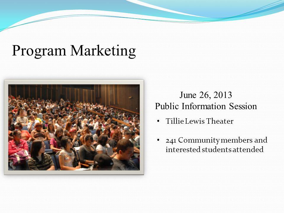June 26, 2013 Public Information Session