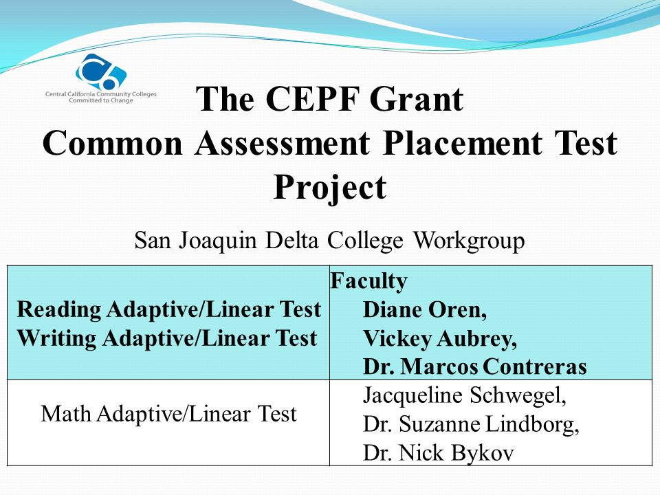 Common Assessment Placement Test