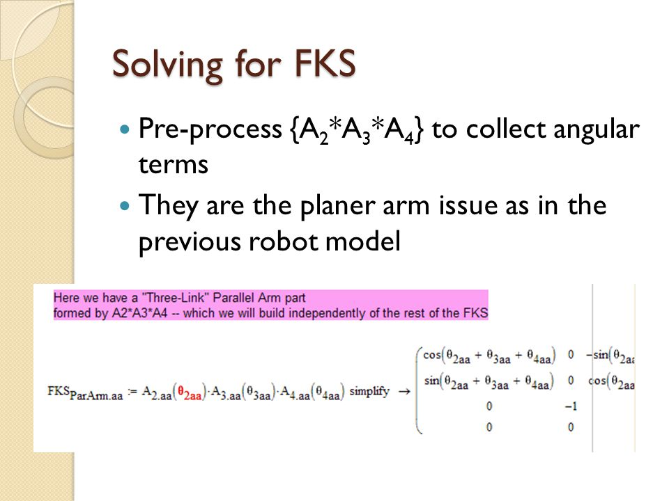 Solving for FKS Pre-process {A2*A3*A4} to collect angular terms