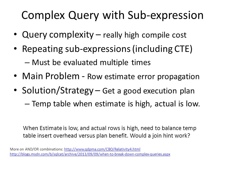 Complex Query with Sub-expression