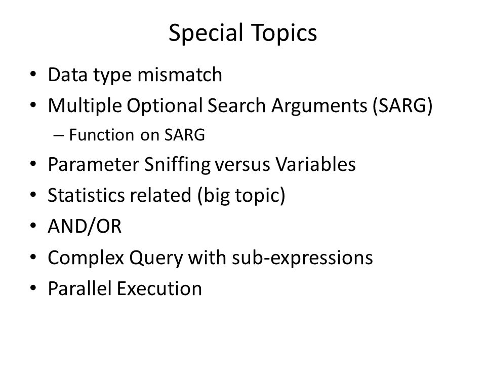 Special Topics Data type mismatch