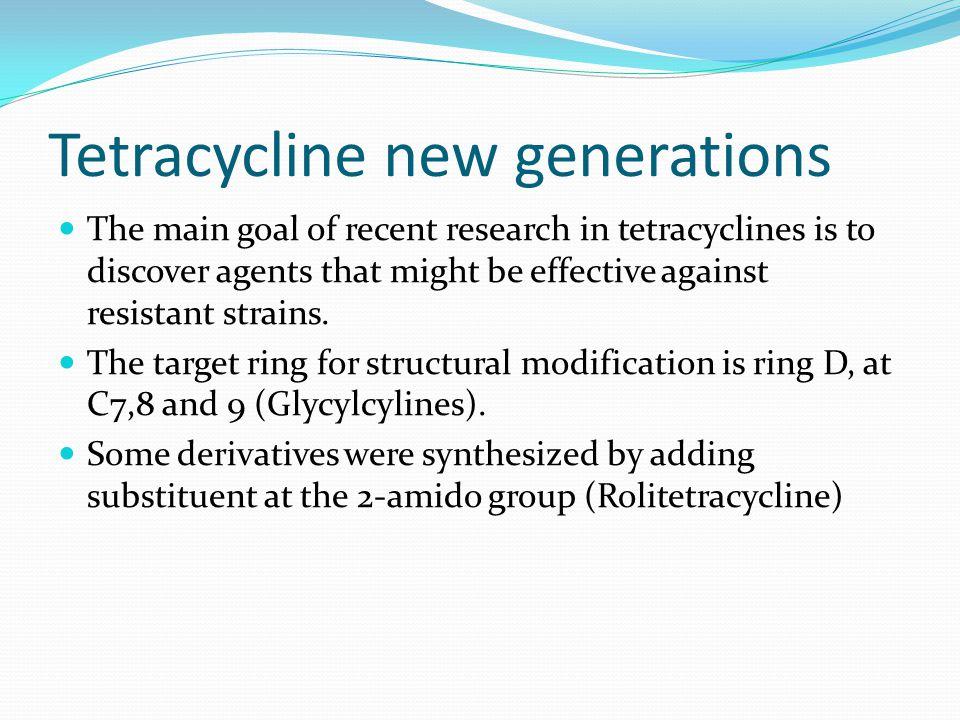Tetracycline new generations