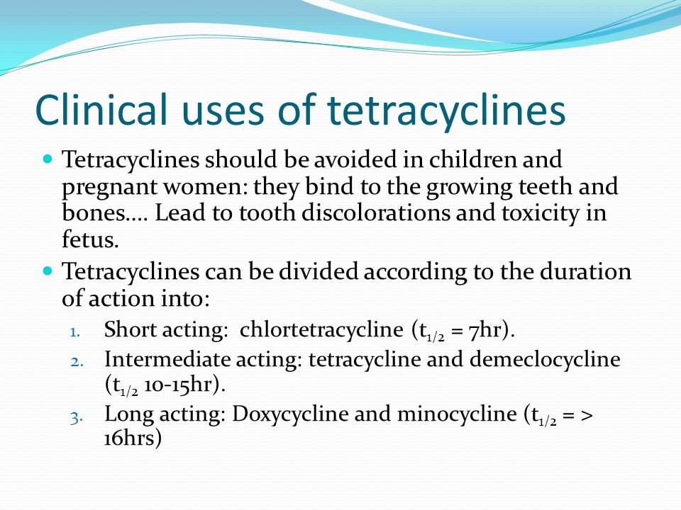 Clinical uses of tetracyclines