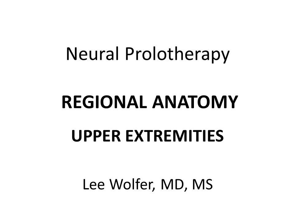 Neural Prolotherapy REGIONAL ANATOMY
