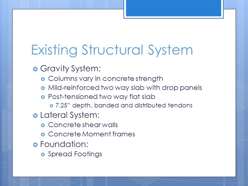 Existing Structural System