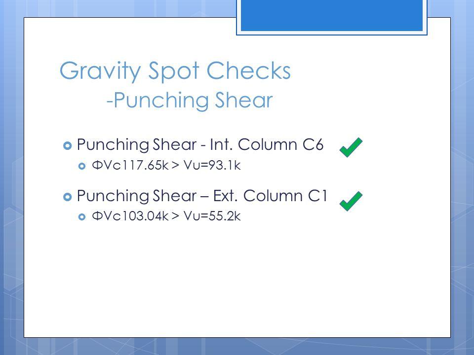 Gravity Spot Checks -Punching Shear