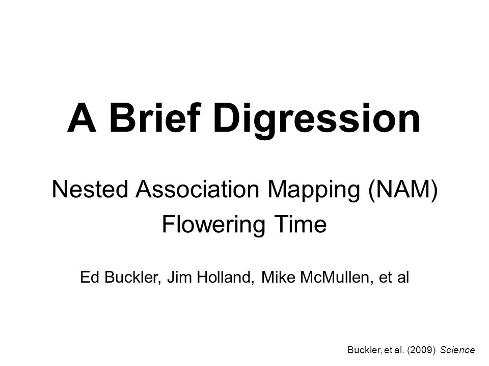 Nested Association Mapping (NAM) Flowering Time