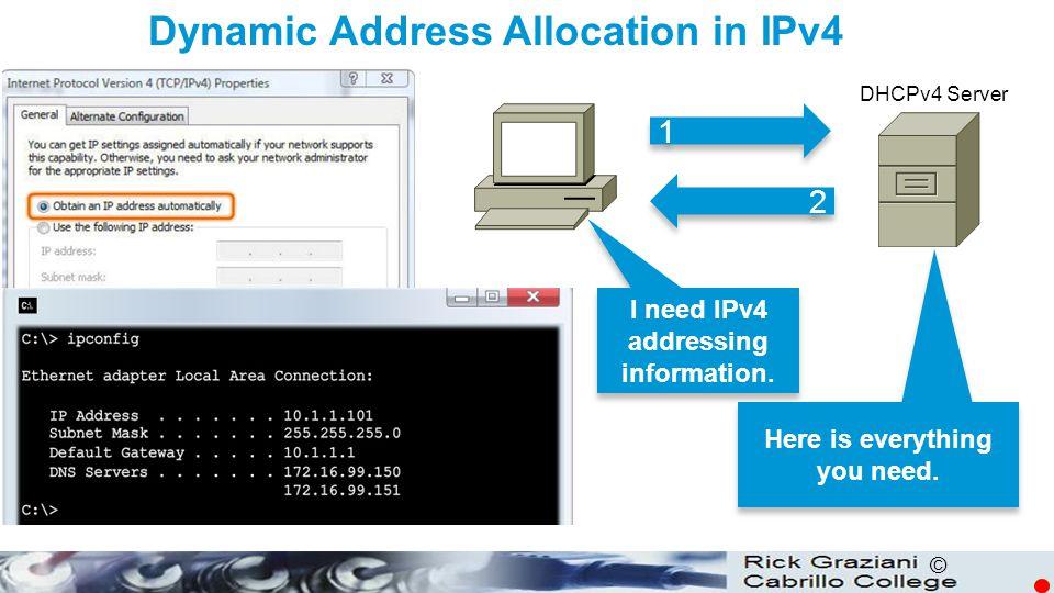 Dynamic Address Allocation in IPv4
