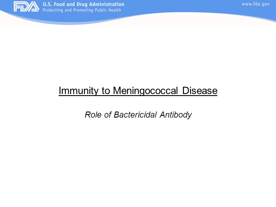Immunity to Meningococcal Disease
