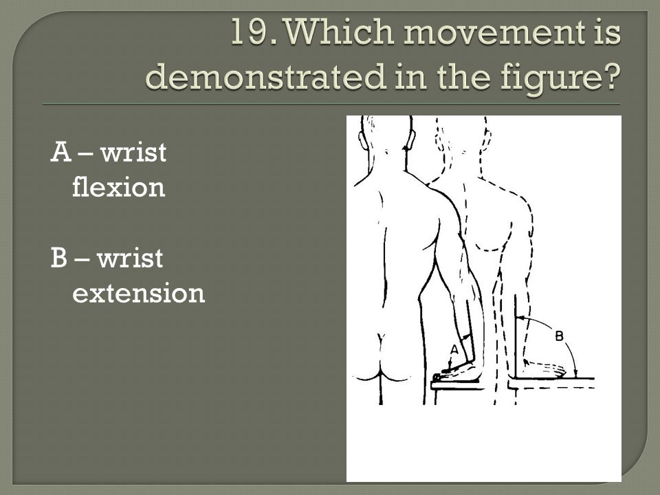 19. Which movement is demonstrated in the figure