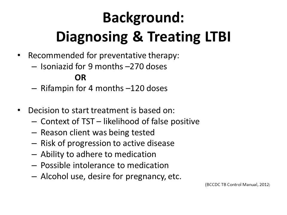 Background: Diagnosing & Treating LTBI