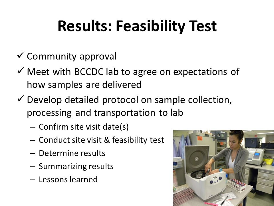 Results: Feasibility Test