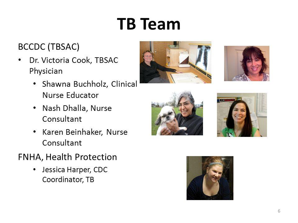 TB Team BCCDC (TBSAC) FNHA, Health Protection