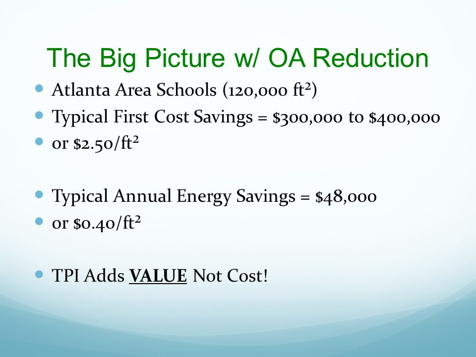 The Big Picture w/ OA Reduction