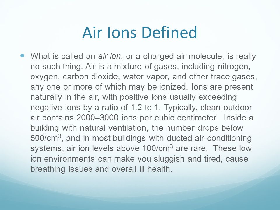 Air Ions Defined