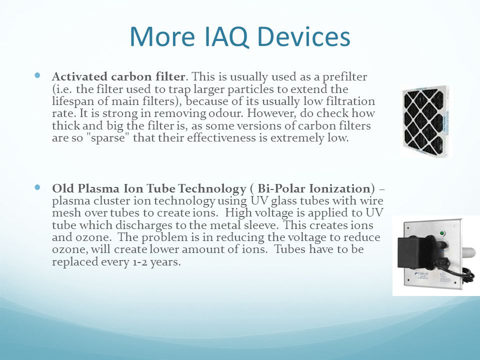 More IAQ Devices