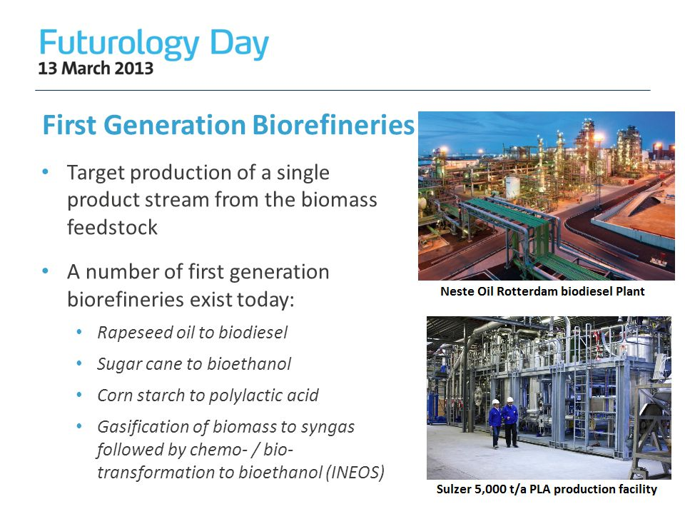 First Generation Biorefineries