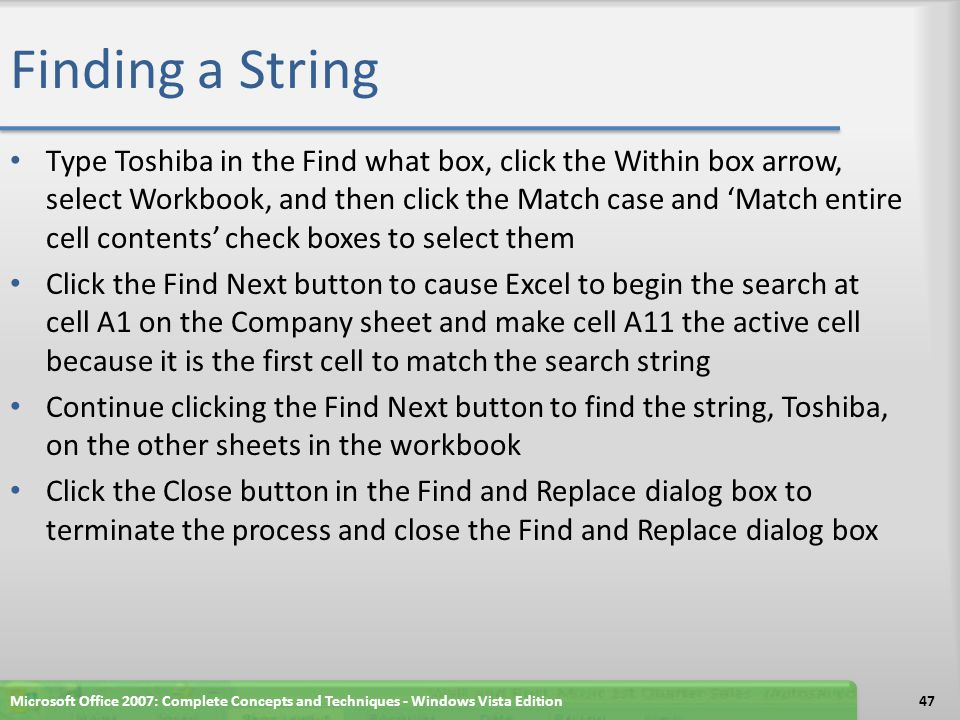 Finding a String