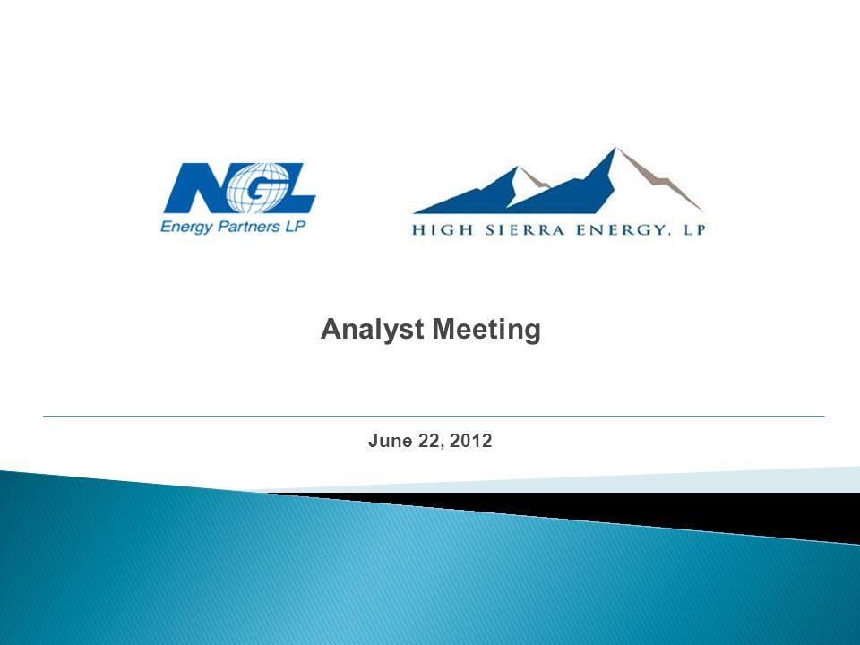 Analyst Meeting June 22, 2012