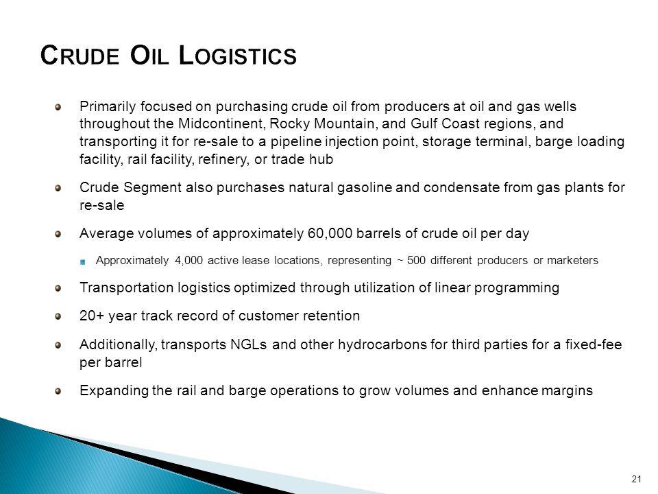 Crude Oil Logistics