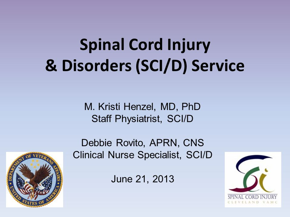 Spinal Cord Injury & Disorders (SCI/D) Service