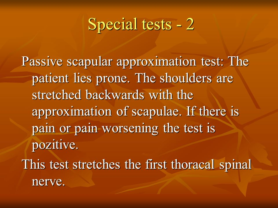Special tests - 2