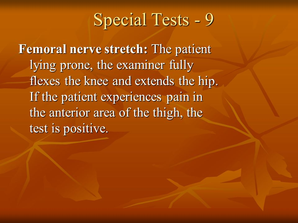 Special Tests - 9