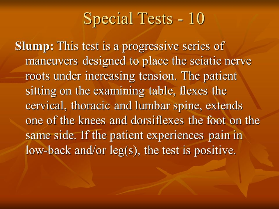 Special Tests - 10