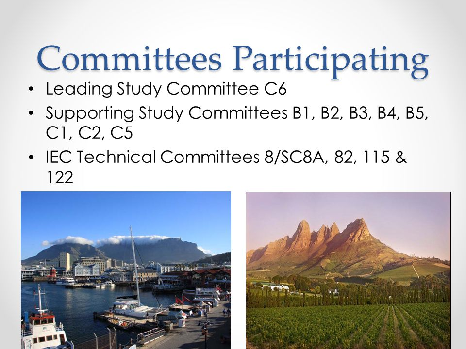 Committees Participating