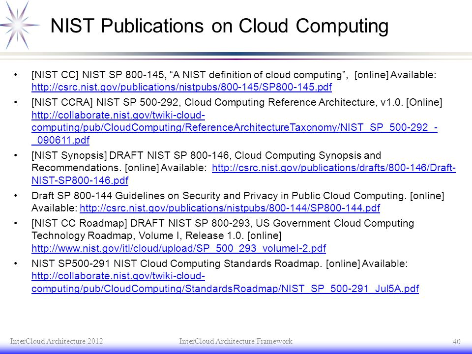 NIST Publications on Cloud Computing