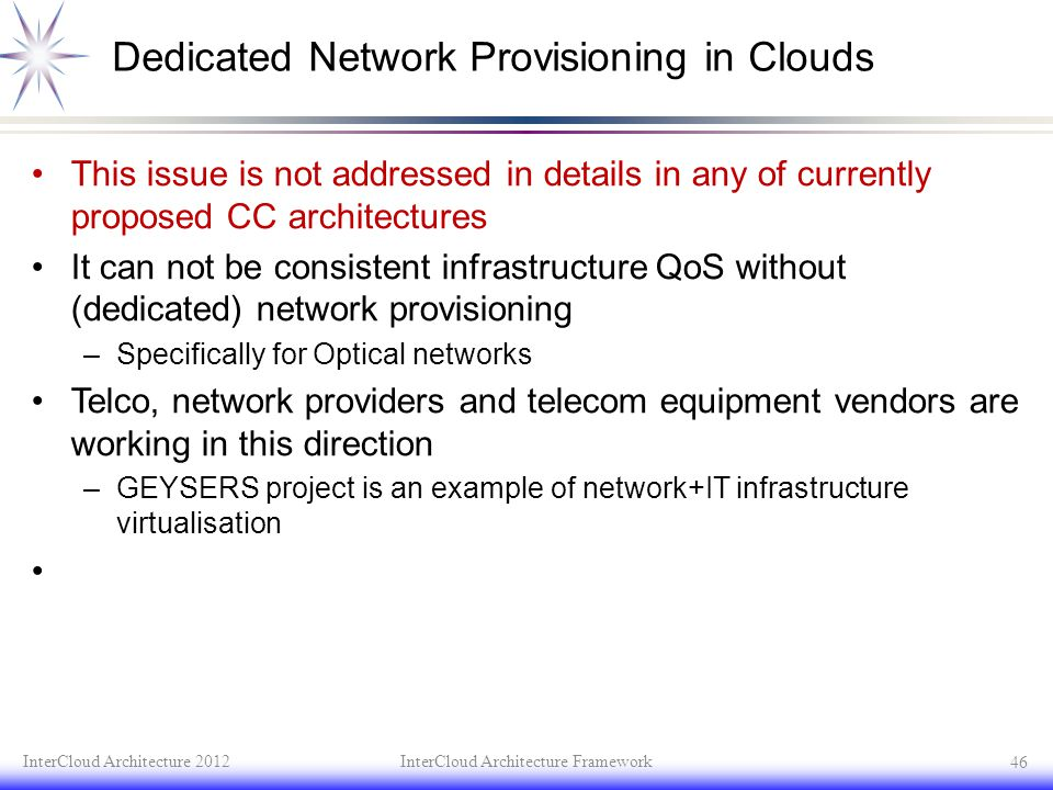 Dedicated Network Provisioning in Clouds