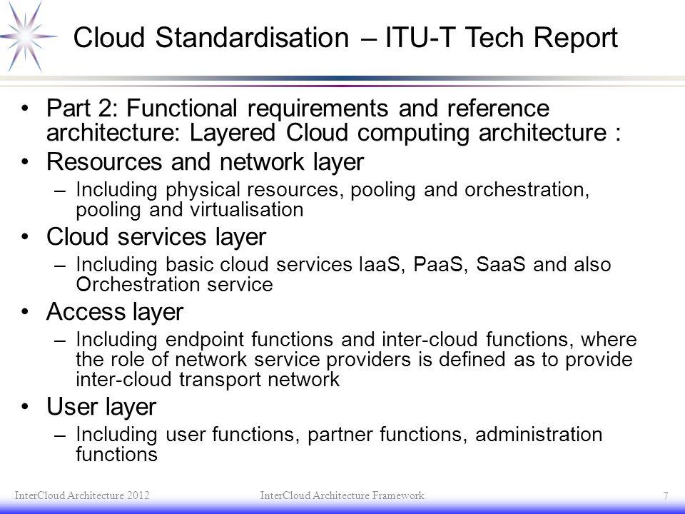 Cloud Standardisation – ITU-T Tech Report