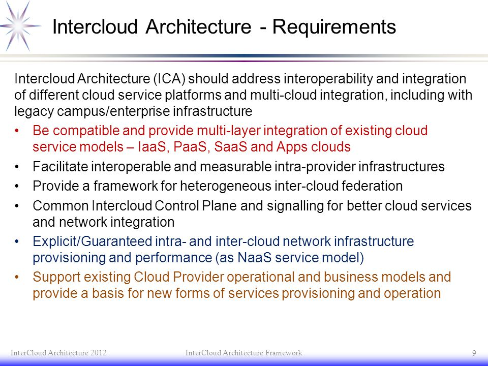 Intercloud Architecture - Requirements
