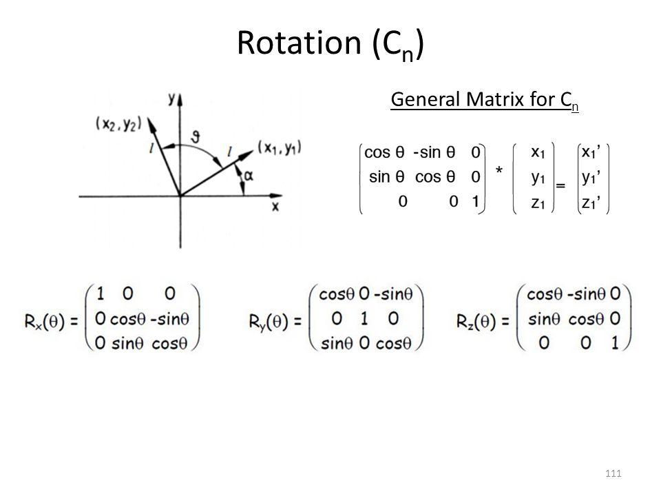 Rotation (Cn) General Matrix for Cn