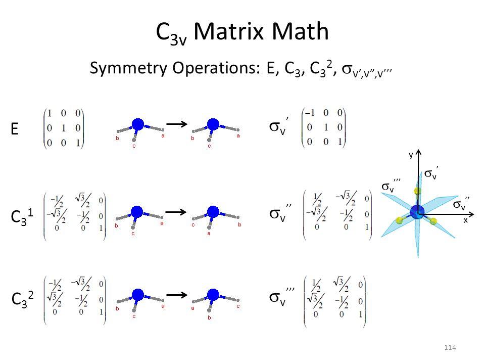 Symmetry Operations: E, C3, C32, sv',v ,v'''