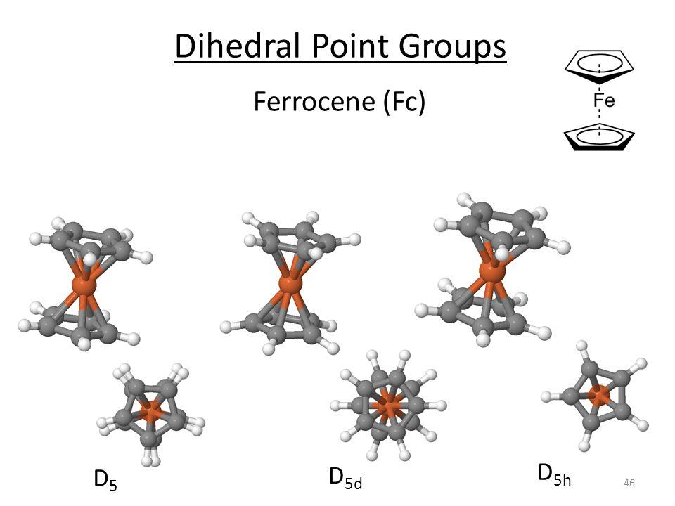 Dihedral Point Groups Ferrocene (Fc) D5d D5h D5
