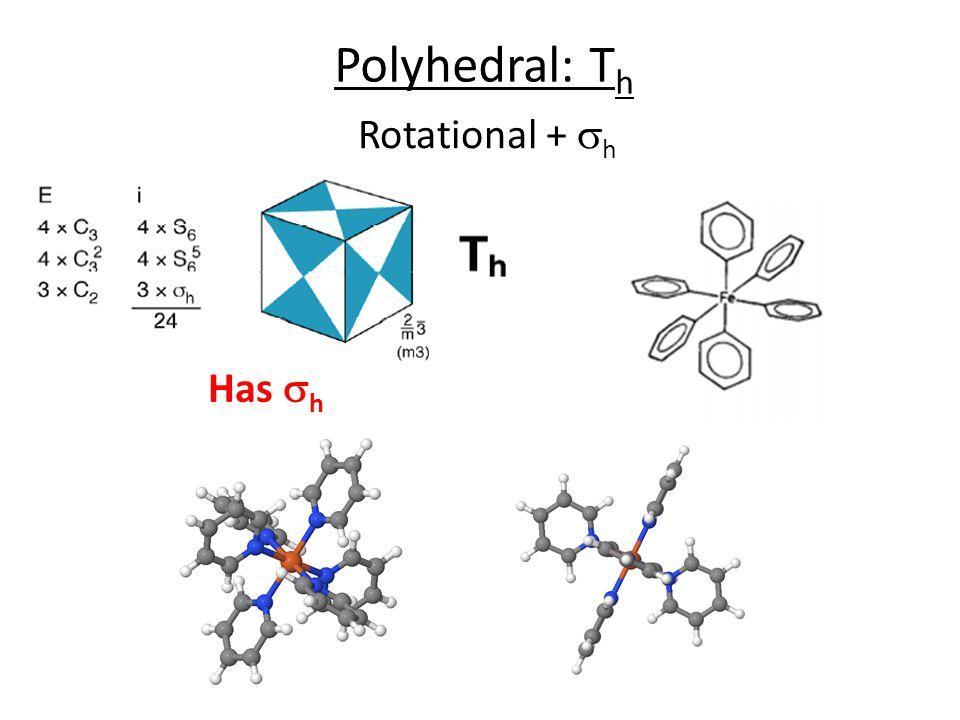 Polyhedral: Th Rotational + sh Has sh