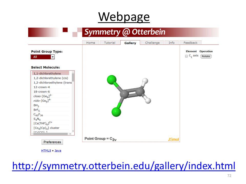 Webpage http://symmetry.otterbein.edu/gallery/index.html