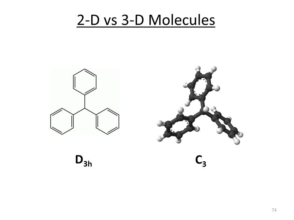 2-D vs 3-D Molecules D3h C3