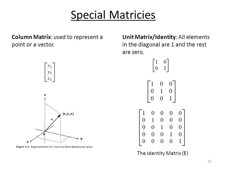 The Identity Matrix (E)
