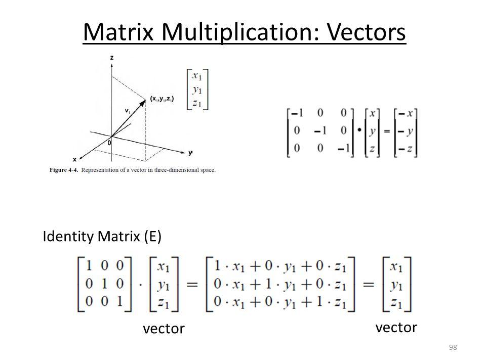 Matrix Multiplication: Vectors