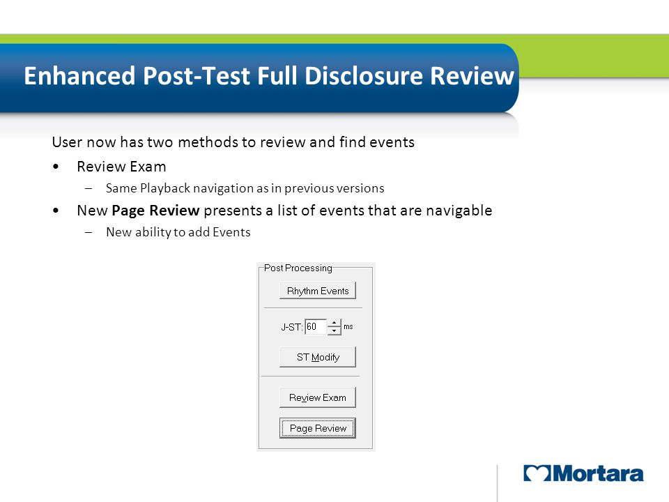 Enhanced Post-Test Full Disclosure Review