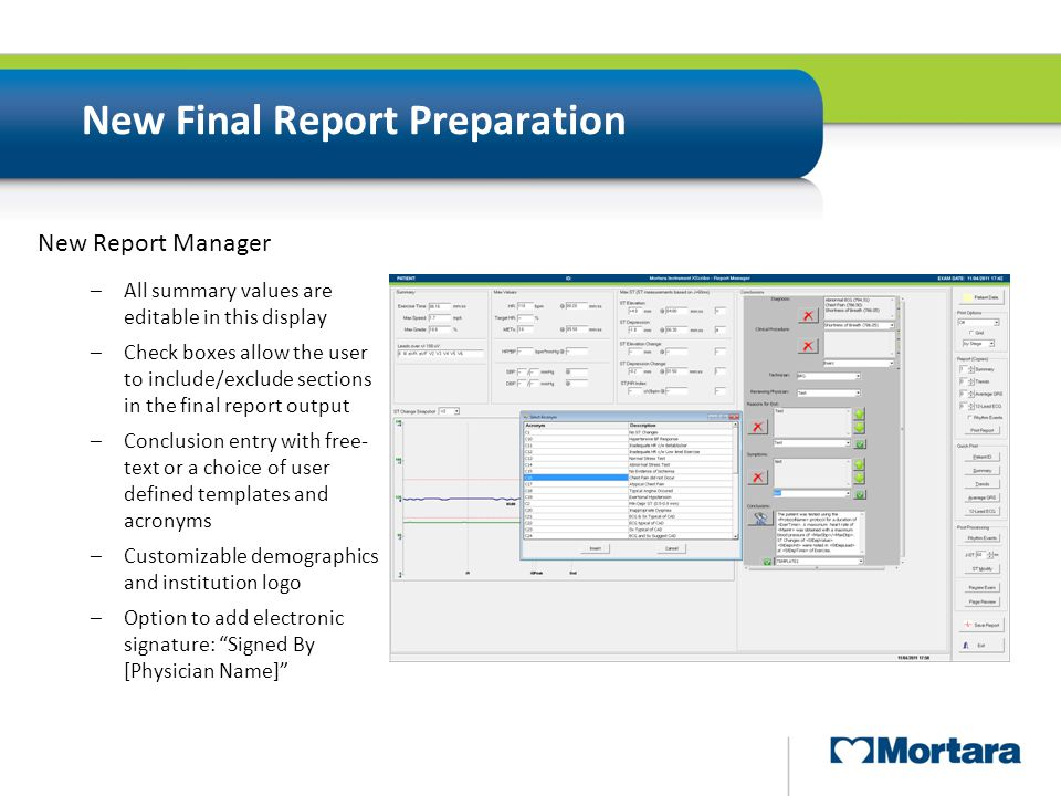New Final Report Preparation