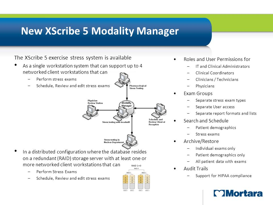 New XScribe 5 Modality Manager