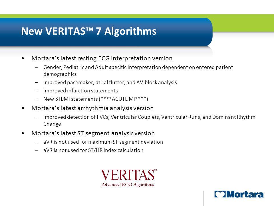 New VERITAS™ 7 Algorithms