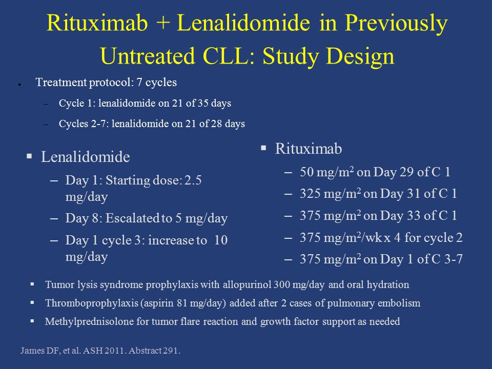 Rituximab + Lenalidomide in Previously Untreated CLL: Study Design