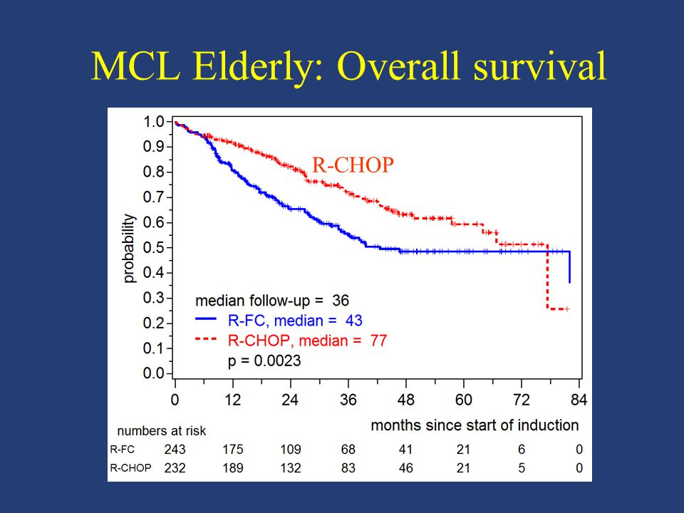 MCL Elderly: Overall survival