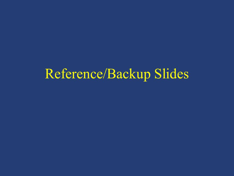 Reference/Backup Slides